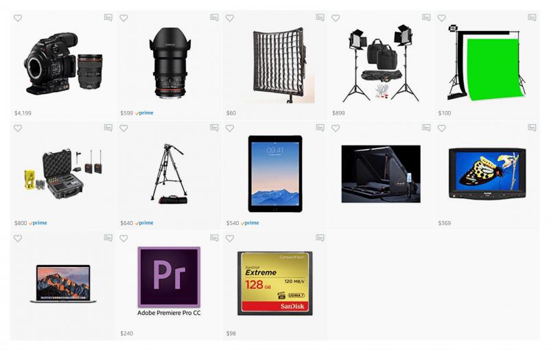 My Green Screen YouTube Creator Studio Equipment Setup At Home 🎥 💡 🎤 (Camera, Light, Lens, Tripod, Microphone, Software)