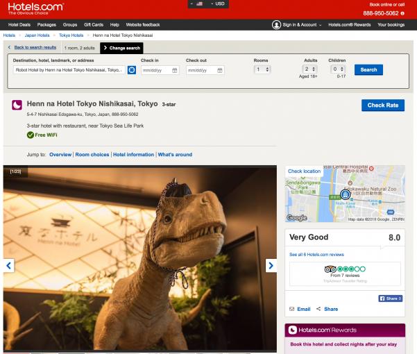 Henn na Hotel Hotels.com 🇯🇵 🤖 🏨
